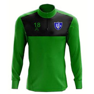 Custom Green with Black Center Panel Quarter Zip Top AFYM:3008