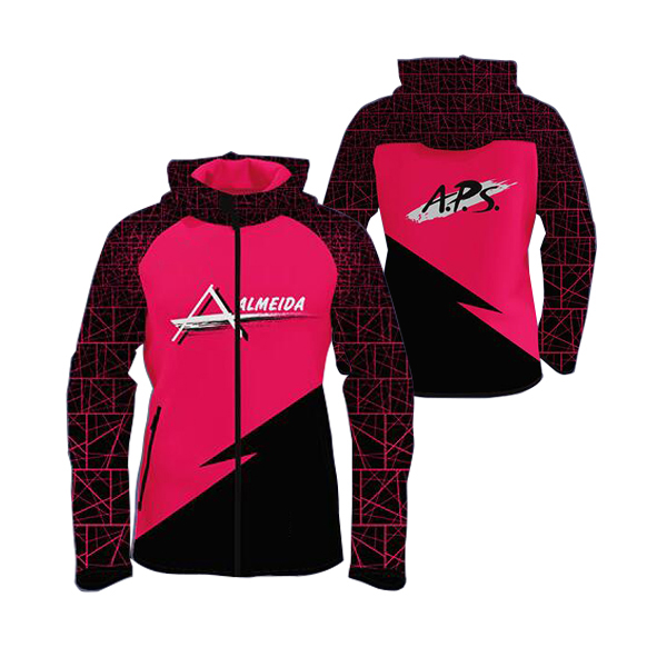Pink with Black Sublimation Hoodie AFYM-5008