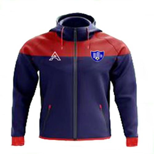 Red and Blue Rain Jacket with Center Panel AFYM-6002
