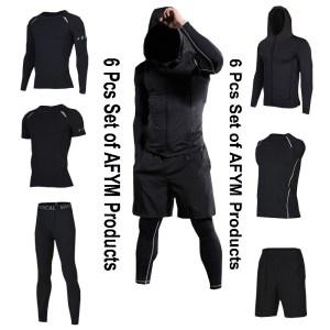 Men Running Fitness Sportswear of 6 Pcs Set AFYM:30000