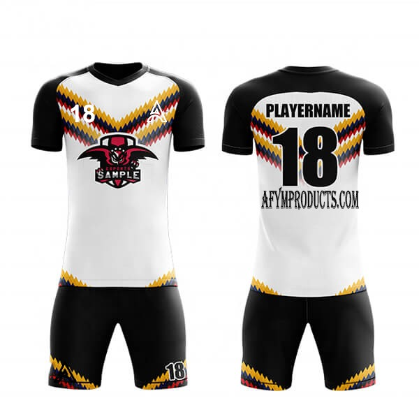 Sublimation Soccer Kit With 3 Colors Trimming AFYM:2063