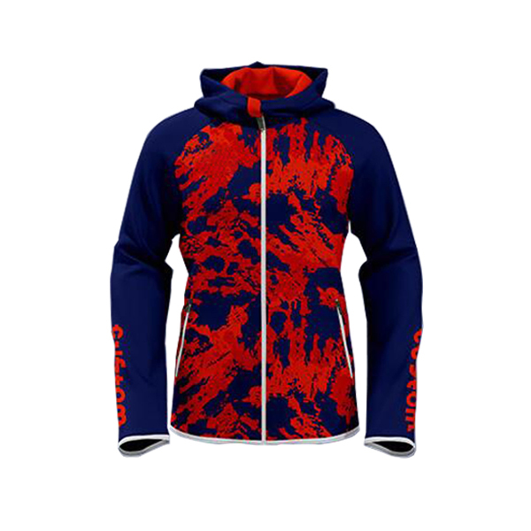 Blue with Red Art Sublimation Hoodie AFYM-5021