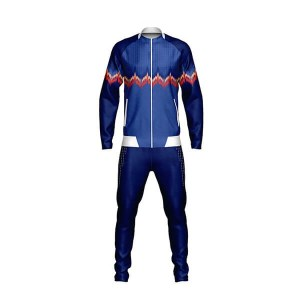 Dark and Light Blue with Front Art Sublimation Tracksuits AFYM:1035