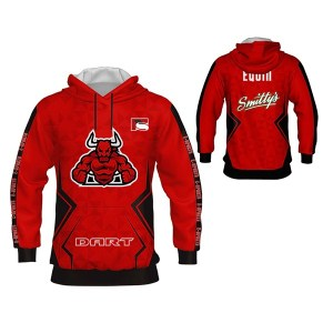 Red with Side Trimming Sublimation Hoodie AFYM-5031