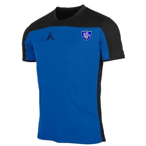 Custom Black and Blue Paneling T-Shirt AFYM:3013