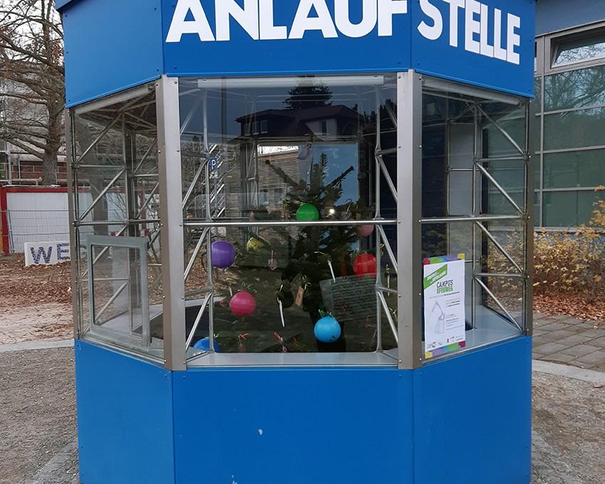 Kiosk der Anlaufstelle