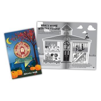 Christian Halloween Jesus is light activity book