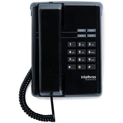 TC 50 Premium - Telefone com fio (preto)