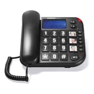 Tok Fácil ID Telefone com fio Com Bina Viva Voz E Teclas Grandes Para Idosos