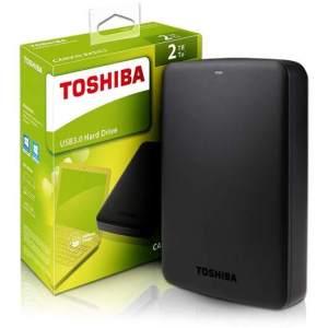 Hdd Externo Portatil Toshiba 2 Tb Canvio Basics Preto - Hdtb420xk3aa