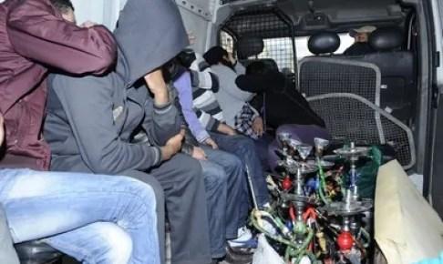 السلطات الأمنية بأكادير تدشن حربا ضروسا ضد محلات الشيشا، و هذه حصيلة العملية:
