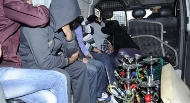 الأمن يشن حملة شرسة على مقاهي الشيشة بأولاد تايمة