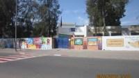 (+صور)ابداعات جدارية على اسوار ثانوية محمد السادس الاعدادية باكادير