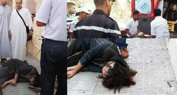 عااجل بأكادير:فتاة تسقط من الطابق الثاني من عمارة سكنية في ظروف غامضة، وحالتها الصحية حرجة