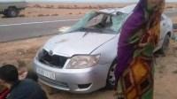 +صور: حادثة سير مميتة بالطريقة الوطنية رقم: 01 تخلف ضحايا بين القتلى و الجرحى.