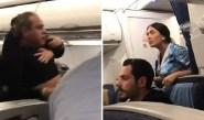 """بالفيديو:ركاب يحولون طائرة الى """"حلبة ملاكمة"""" بسبب مضيفة"""