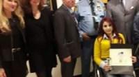 ابنة أكادير نجاة الباز تعرض لوحاتها بمقر الهيئة بنيويورك بحضور سفير المغرب الدائم بالأمم المتحدة