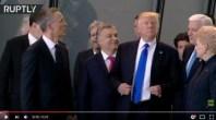 مثير:ترامب يزيح رئيس وزراء الجبل الأسود بعنف ليكون في الصف الأول