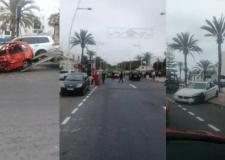 +صور: نجاة سائق من موت محقق في حادثة سير خطيرة بشاطئ أكادير