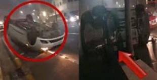سيارتان تنقلبان في كورنيش المدينة…