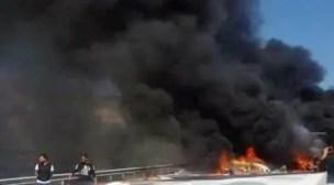 خطير:جثت متفحة و خسائر بالجملة في حادث محرقة أمسكروض، ووالي أكادير يحط الرحال بالمنطقة، والطريق إلى مراكش مقطوعة مؤقتا (+ فيديو و صور).