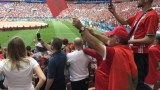 الجماهير المغربية تردد النشيد الوطني بشكل رائع داخل ملعب لوجنيكي أمام البرتغال