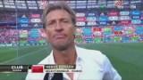 شاهد مدرب المنتخب المغربي وهو يبكي بعد الهزيمة امام البرتغال