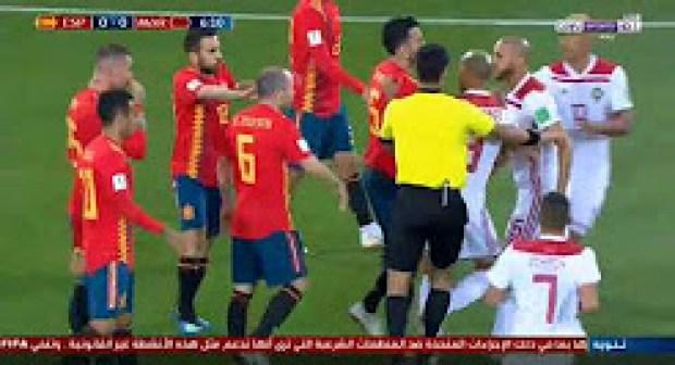 ملخص واهداف مباراة المغرب واسبانيا 2-2 –