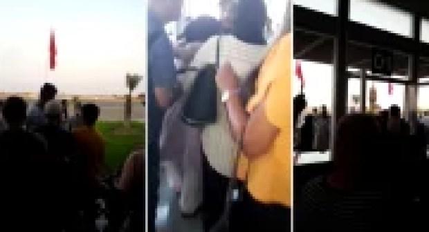 فوضى و إغماءات بين المسافرين بالمطار بسبب تأخير و إلغاء رحلات 'لارام' !