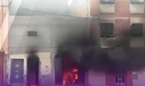 +فيديو: النيران تحول منزلا إلى رماد بإنزكان وسط هول الساكنة.