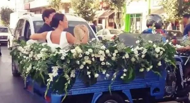 """سابقة بالمغرب: عرس استثنائي تقام بعض مراسيم حفله فوق """"تريبورتور"""".(+صور)"""