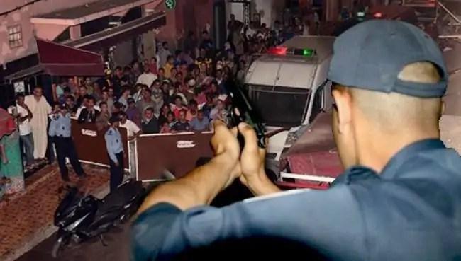 الرصاص يلعلع لتوقيف عربدة ثلاثة مجرمين أقدموا على إحداث الفوضى وإلحاق خسائر مادية بشاحنة.