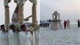 """نجلـة دبلوماسـي مغربي تقيم """"حفل زفاف"""" أسطوري فوق رمال شاطئ بجزر المالديف"""