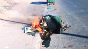 بالفيديو و الصور: حرق حاويات النفايات المنزلية متواصل بأكادير في ظروف غامضة..
