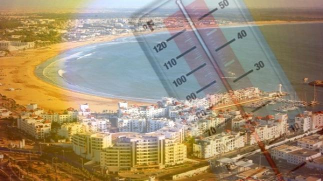 درجات الحرارة المرتقبة بأكادير وباقي مدن المملكة غدا الثلاثاء