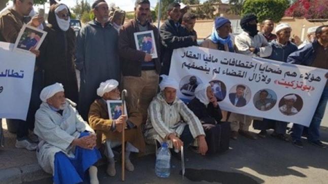 ضحايا مافيا العقار بسوس يحتجون من جديد أمام محكمة استئنافية أكادير