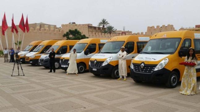 بالصور .. .20 حافلة جديدة لدعم النقل المدرسي في تارودانت