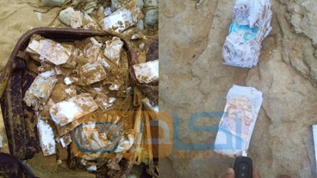 البحر يلفظ حقائب من الأوراق النقدية المزورة ضواحي أكادير (فيديو)