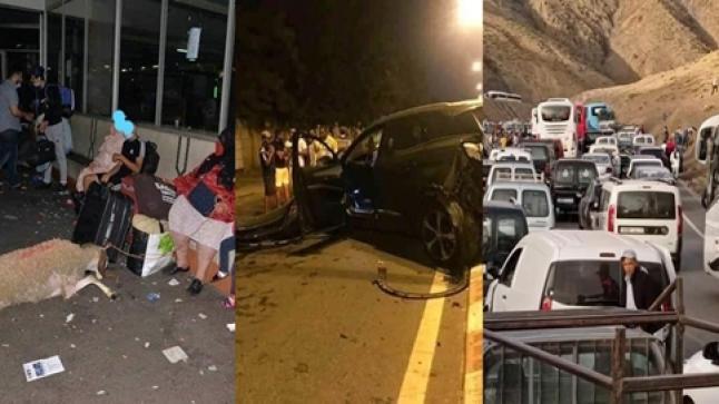 ليلة سوداء عاشها آلاف المغاربة.. فوضى وحوادث سير وسرقات بعد قرار الحكومة منع التنقل