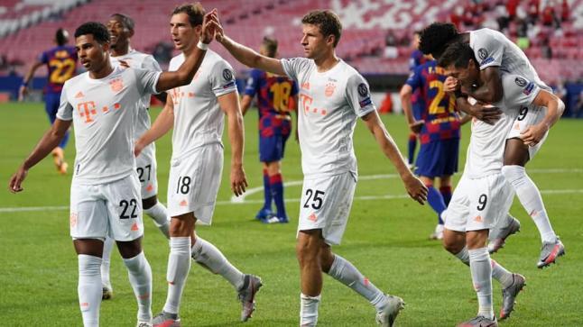 بايرن ميونيخ يفجر شباك برشلونة بثمانية أهداف في ربع نهائي دوري الأبطال