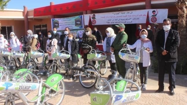 توزيع 220 دراجة هوائية على تلاميذ بتارودانت