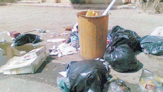 ساكنة الدشيرة الجهادية تناشد المجلس المنتخب بحل أزمة النفايات