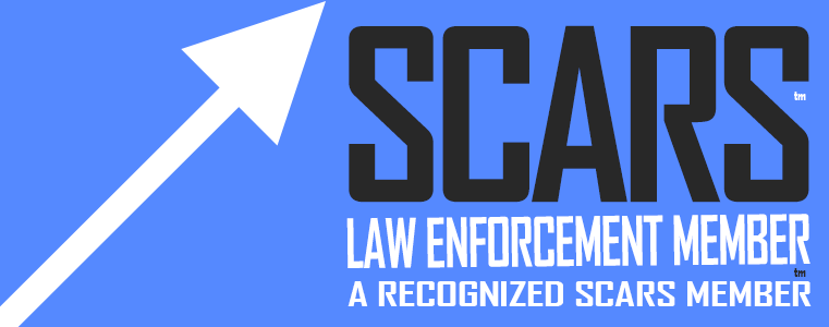 SCARS - Society of Citizens Against Romance Scams - Law Enforcement Membership Badge
