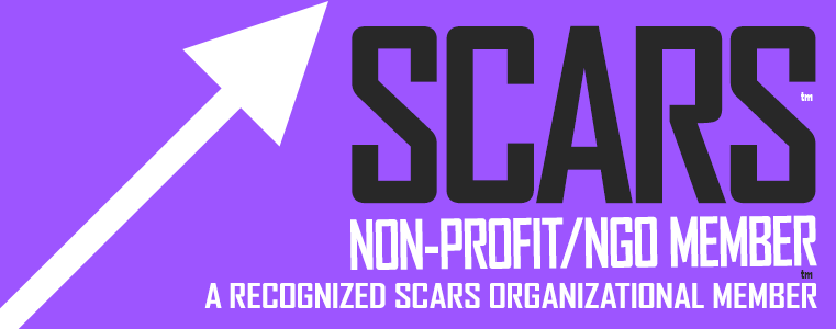 SCARS - Society of Citizens Against Romance Scams - Non-Profit / NGO Membership Badge