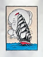 Tall Ship (2012) 17.5x24cm