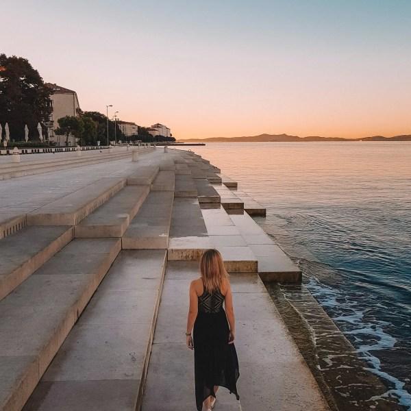 Beautiful sunrise in Zadar, Croatia