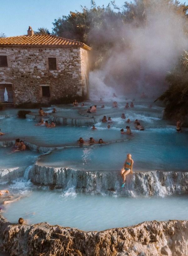 Hot springs Cascate del Mulino in Saturnia, Tuscany