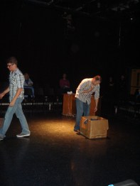 Cody Lamb as Robert & Olin Meadows. Photo by Jeff Knoll.