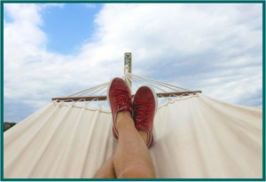 Picture of person in a hammock