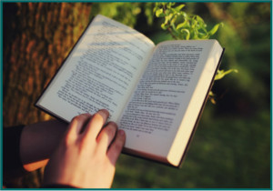 picture of person holding an open book